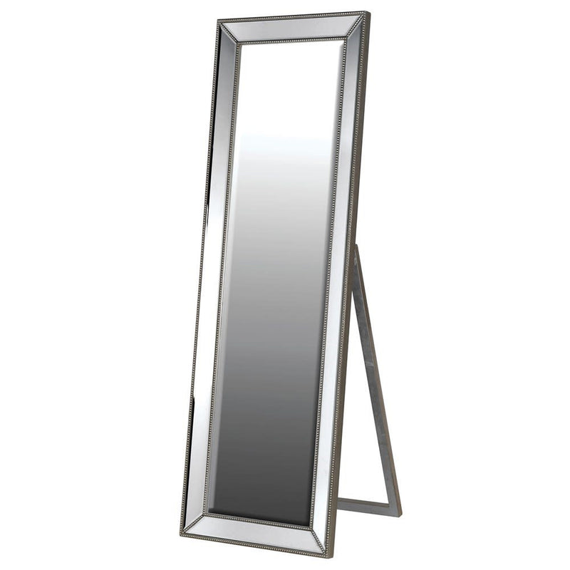 Floor Standing Pewter Mirror