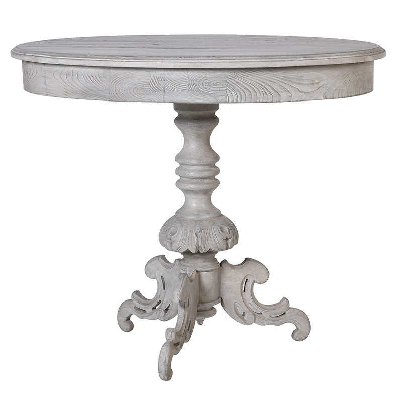 Grey oval lamp table