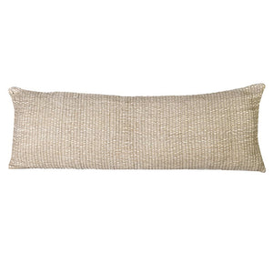 Linen and cotton long natural cushion