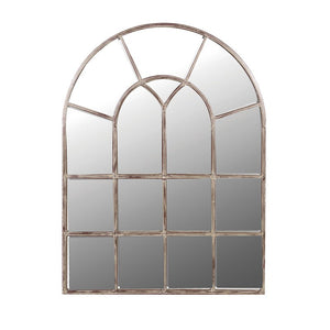 Arched window effect mirror