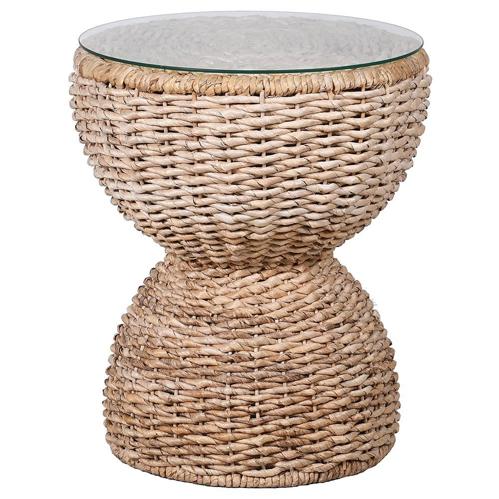 Round Wicker Side Table