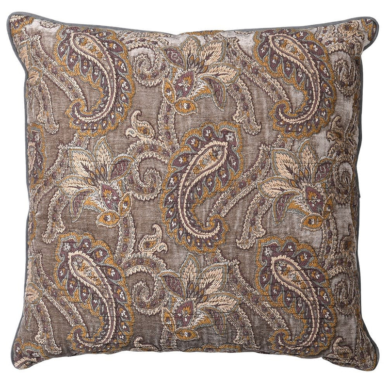 Large paisley cushion