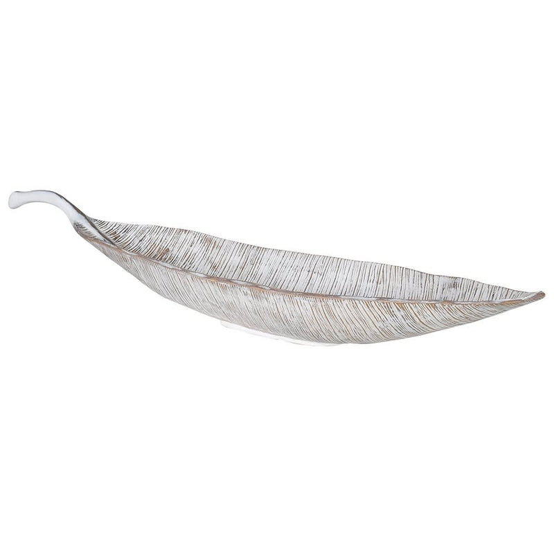 Large white leaf plate