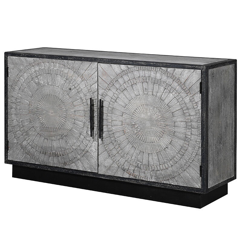 Grey circle pattern sideboard
