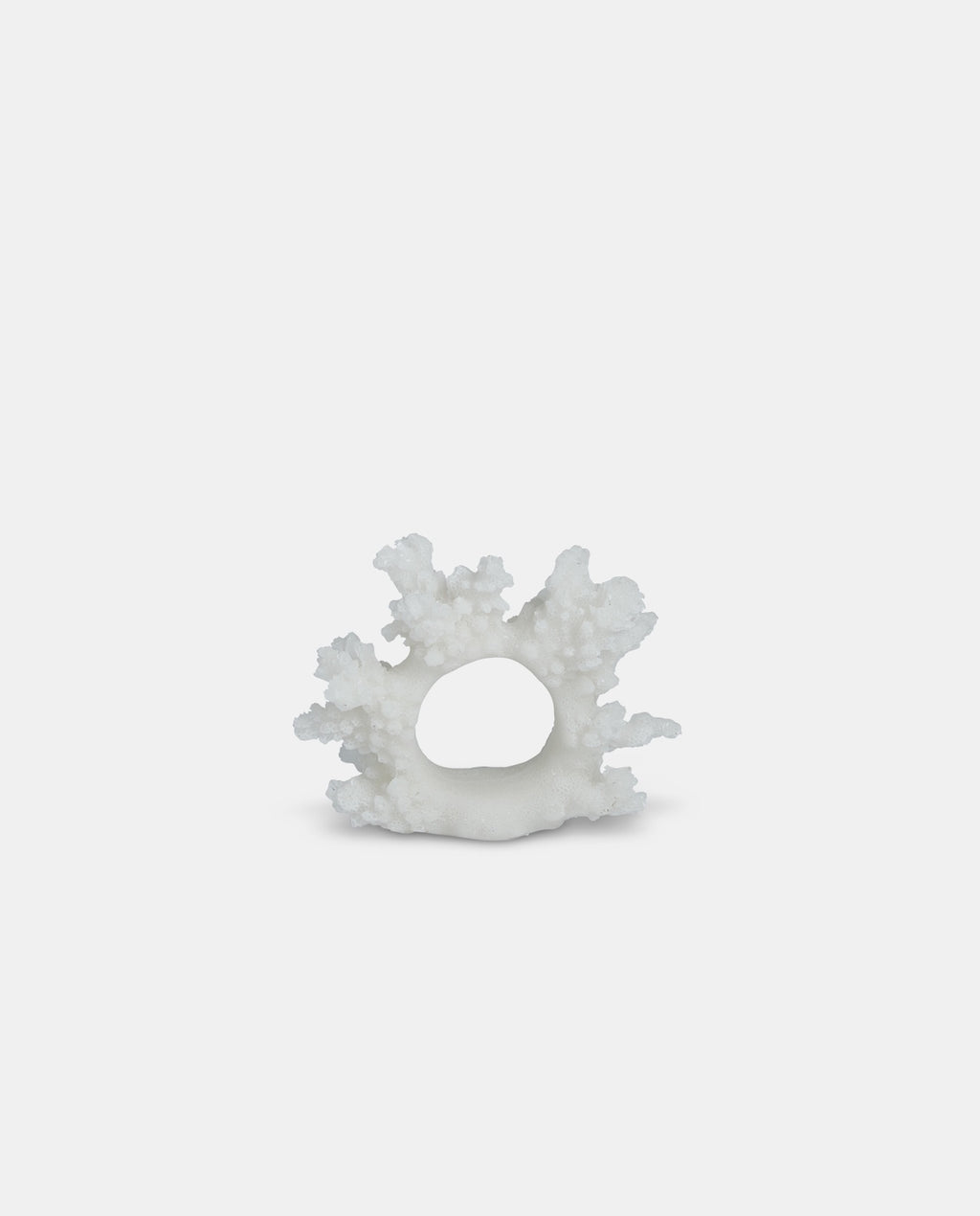 White coral napkin ring