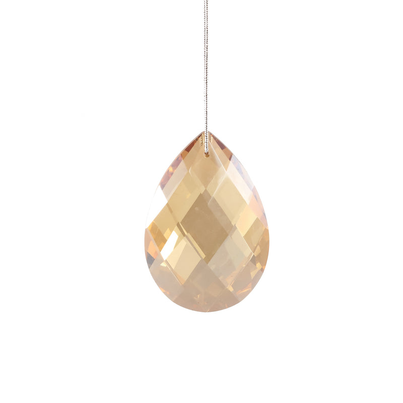 Gold Diamond Hanging Teardrop