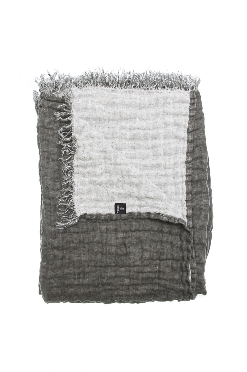 Himla Charcoal/White Hannelin Throw