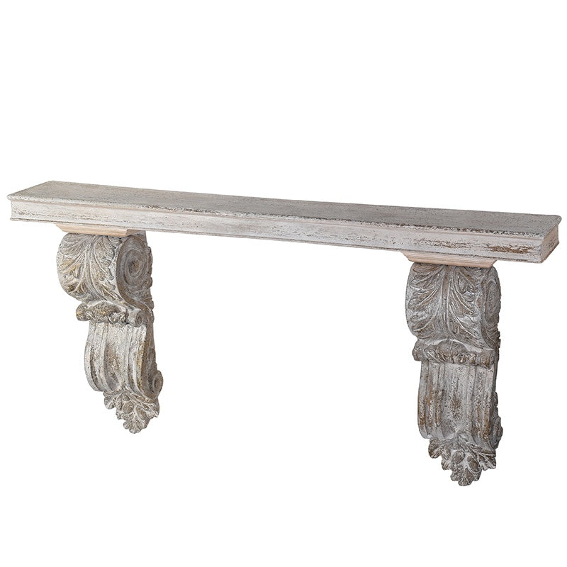 Distressed wall console table