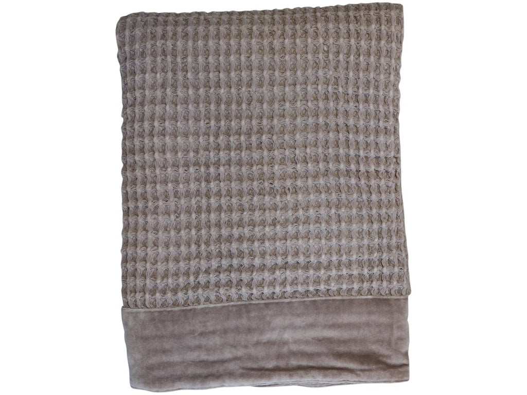 Latte waffle woven throw