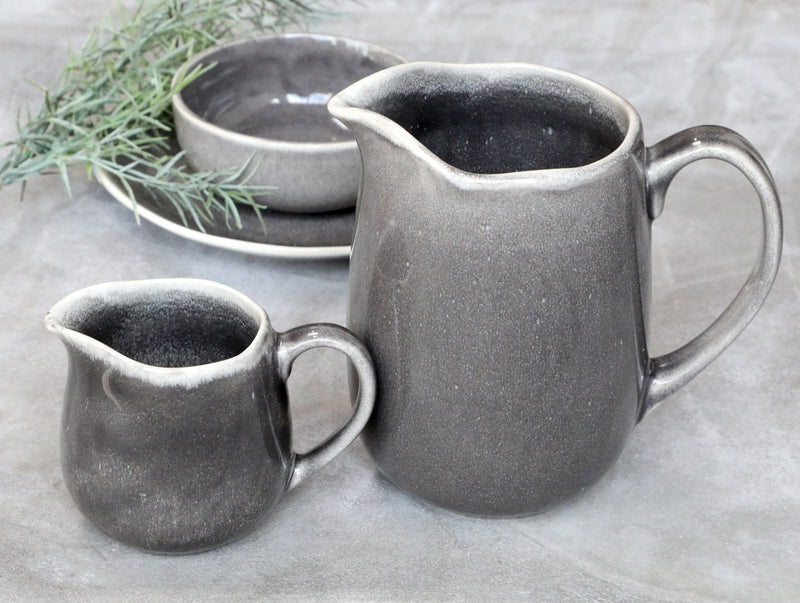 Rustic Glazed Grey Jug