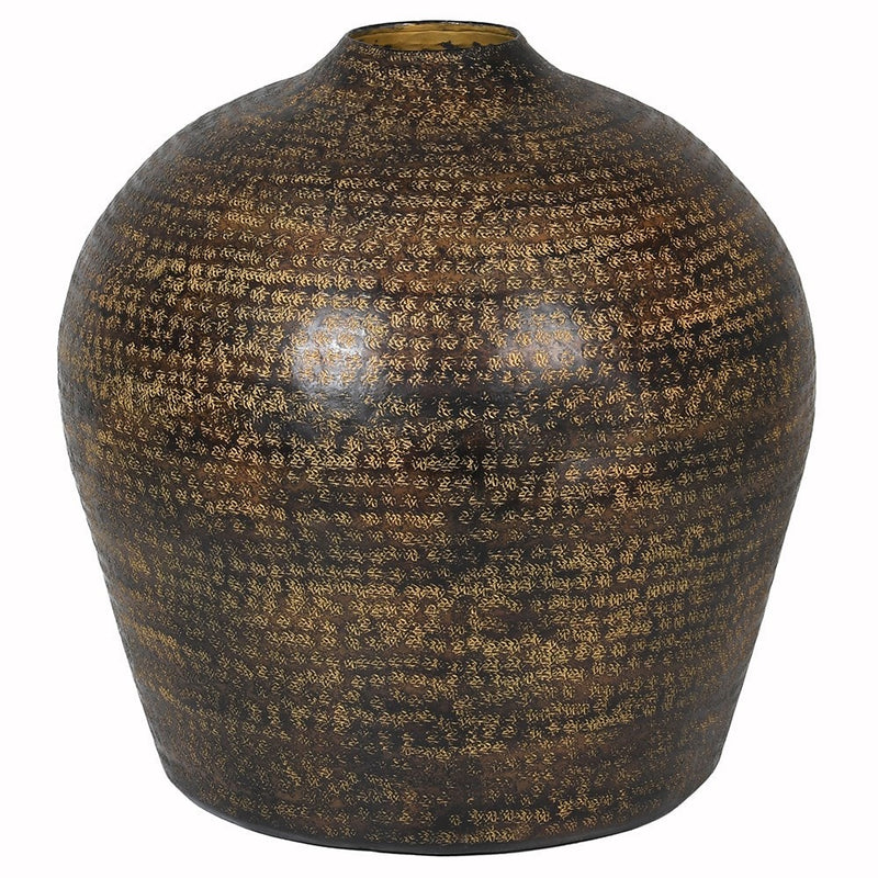 Large Brown Aluminium Vase