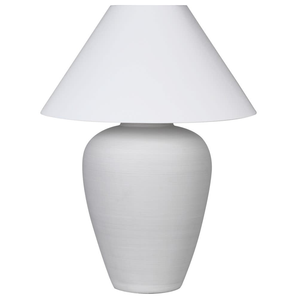Large white ceramic lamp