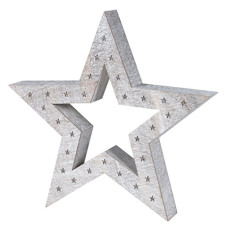 White wash lit star
