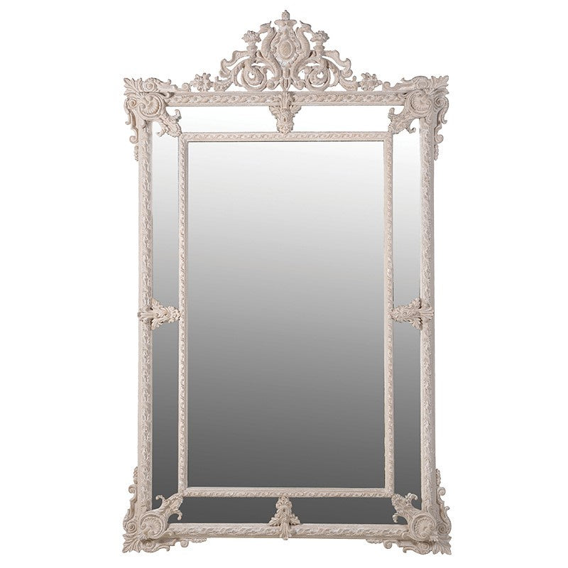 Cream ornate large mirror