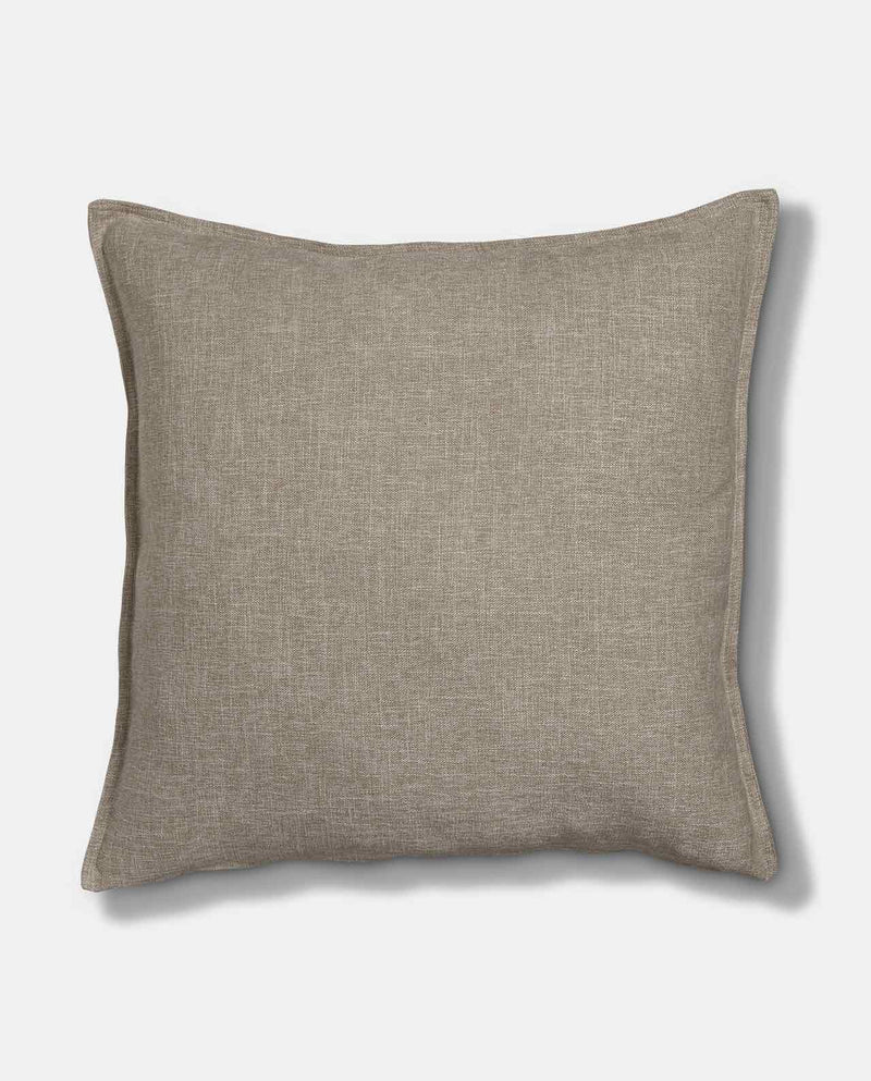 Large sand linen scatter cushion