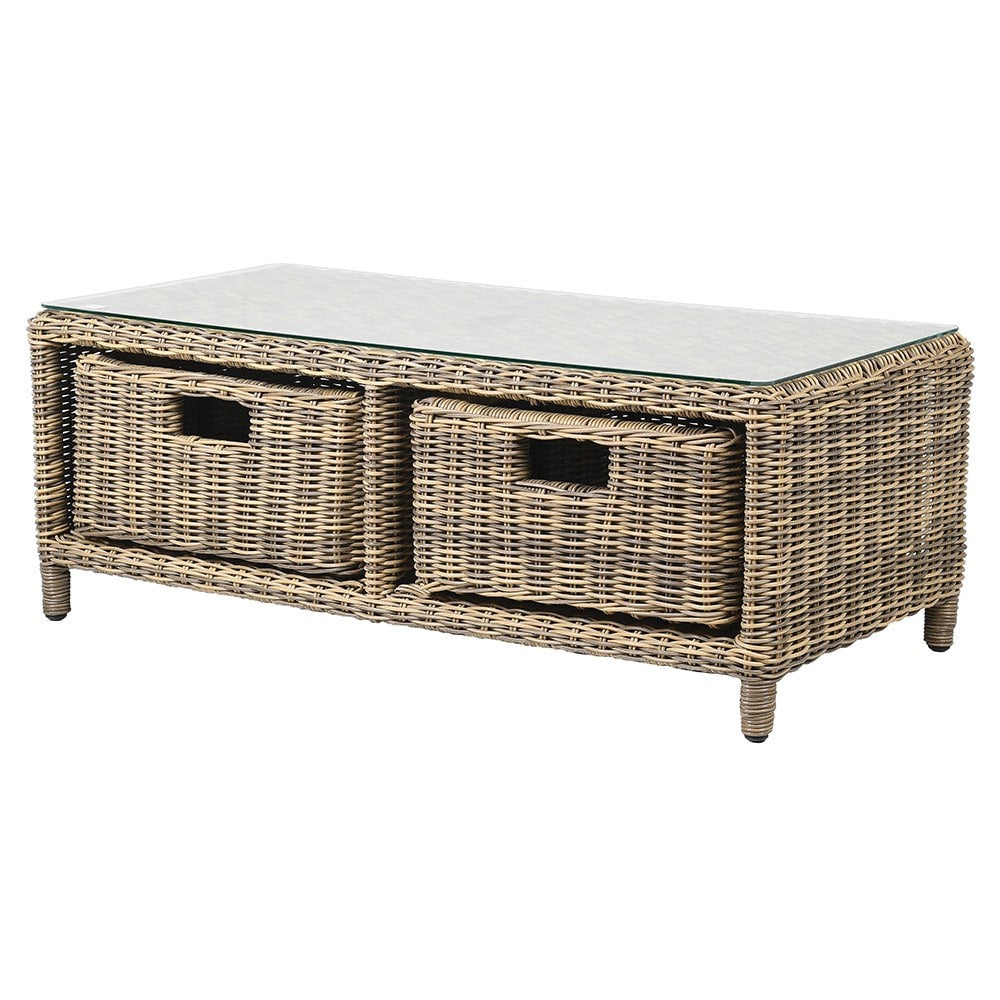 The Avon Rattan Coffee Table