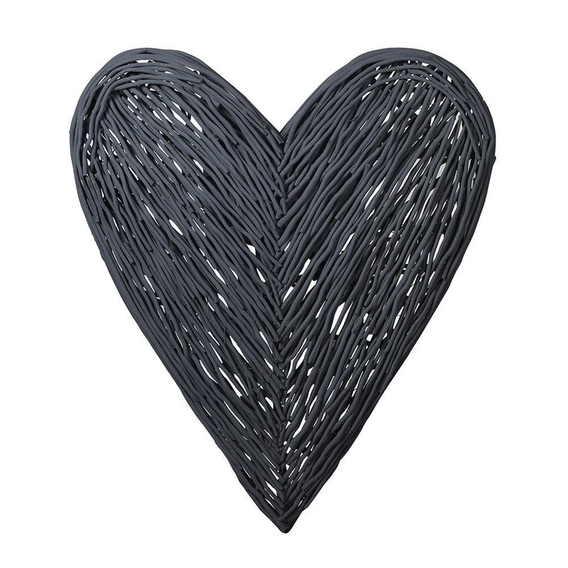 Large dark grey heart