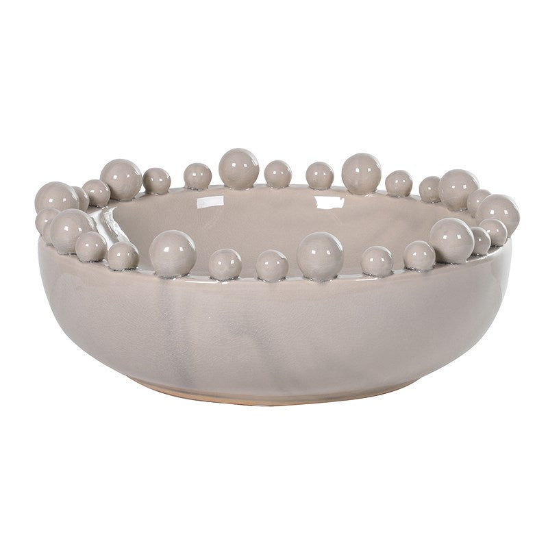 Cream bowl with ball edge