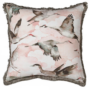 Cranes And Clouds Cushion