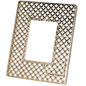 Gold Criss Cross Metal Picture Frame