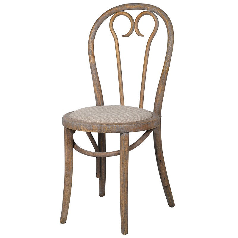 washed wooden dining chair