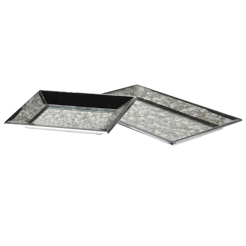 Glass Trays Set of  2