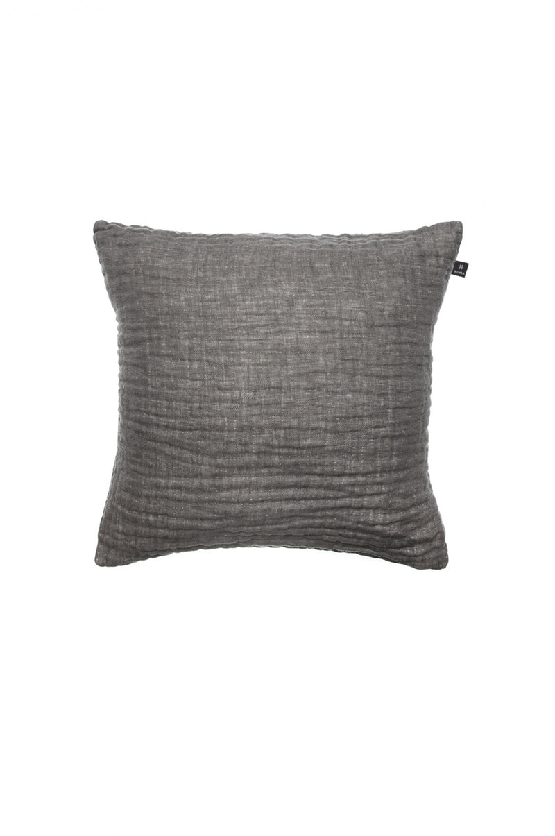 Himla Charcoal Hannelin Cushion 50x50cm