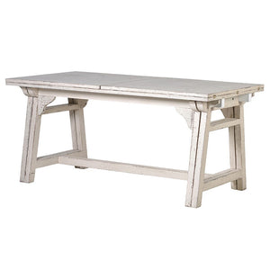 White wash extending dining table