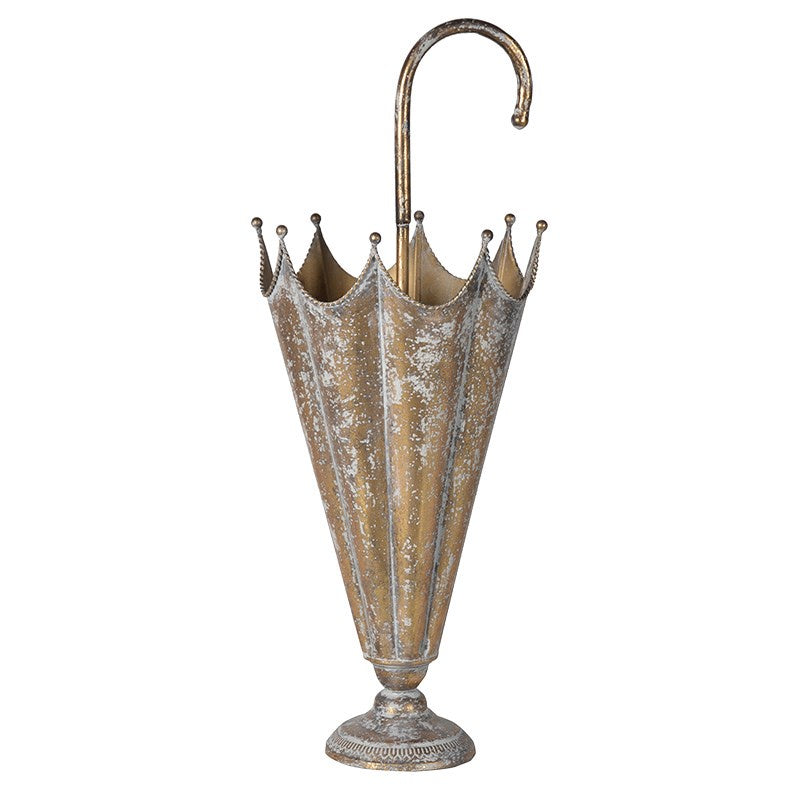 Gold distressed umbrella stand