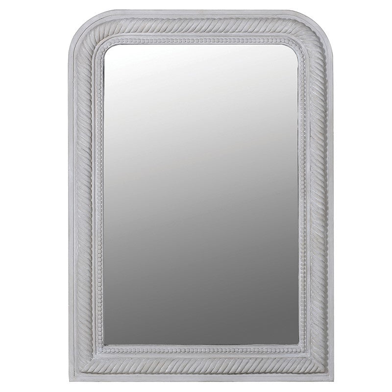Grey curved wall mirror