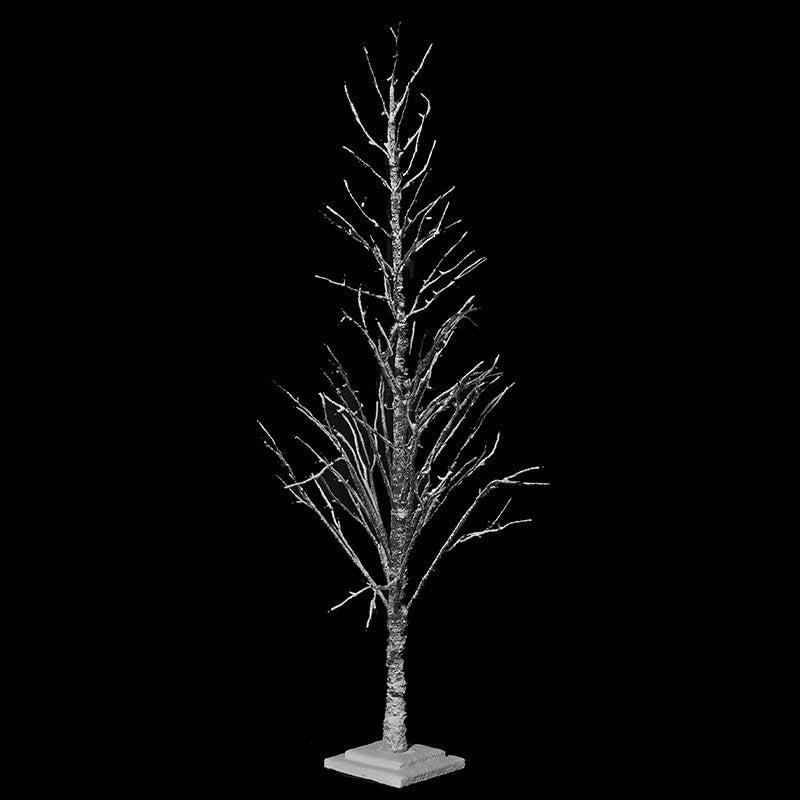 snow led tree