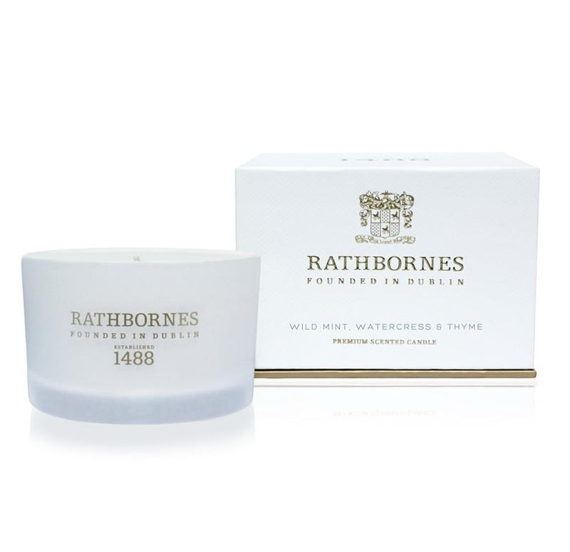 Rathbornes Travel Candle Wild Mint 75g