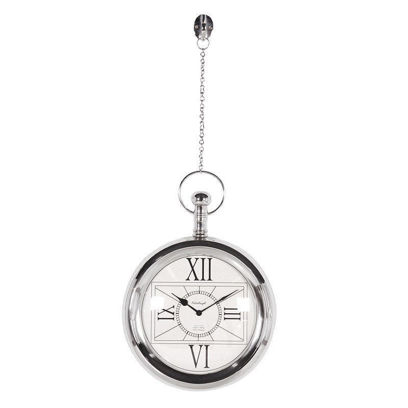 Hanging chain wall clock