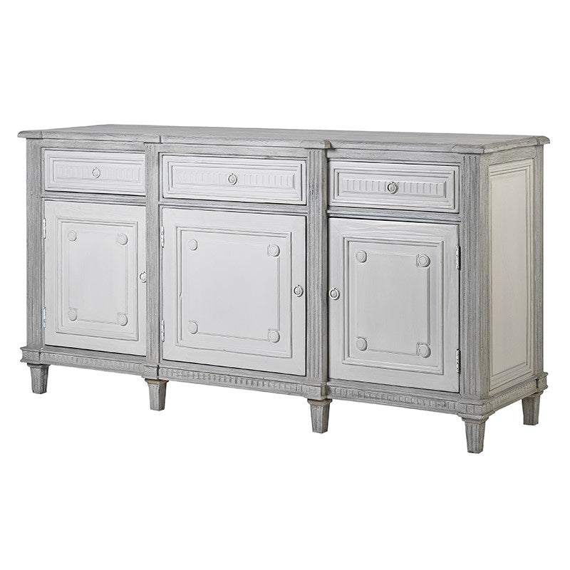 Grey wash large sideboard