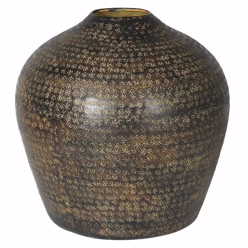 Medium Brown  Aluminium Vase