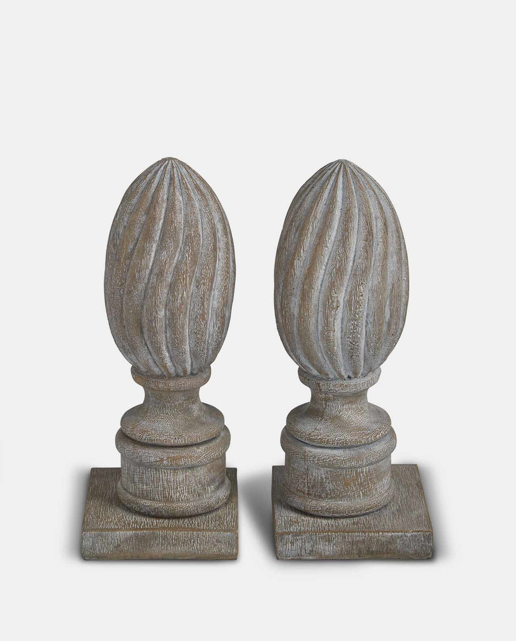 Grey finial bookends