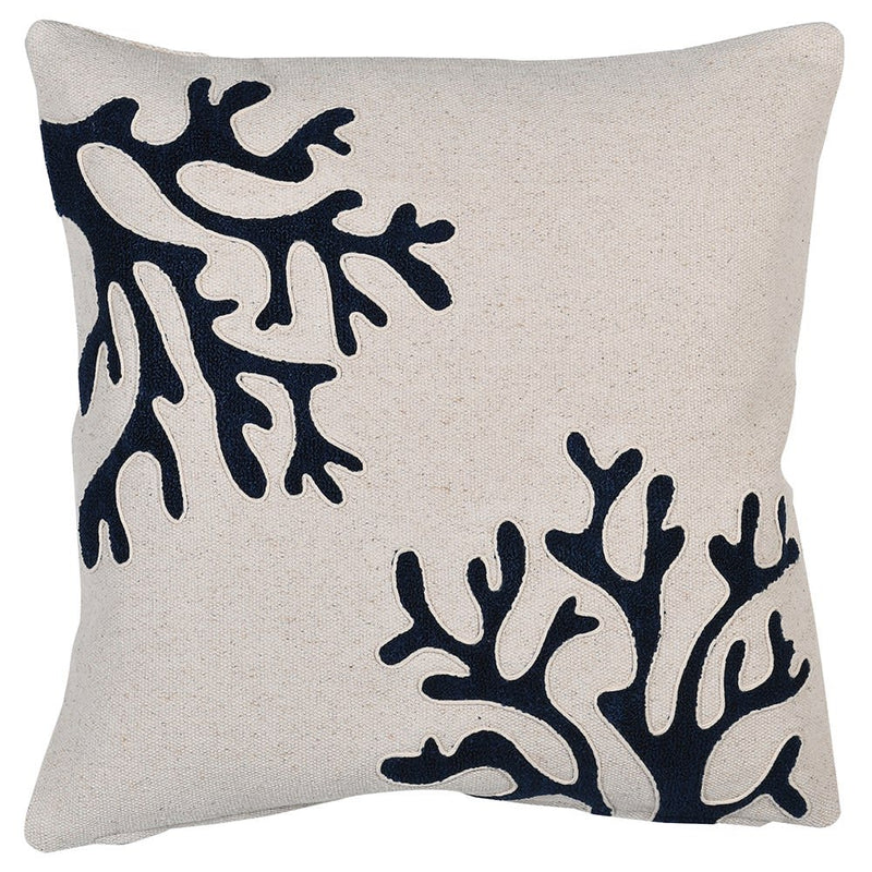 Navy Coral Cushion