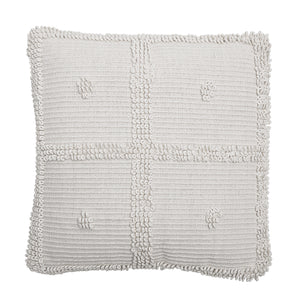 Natural cotton cross pattern cushion