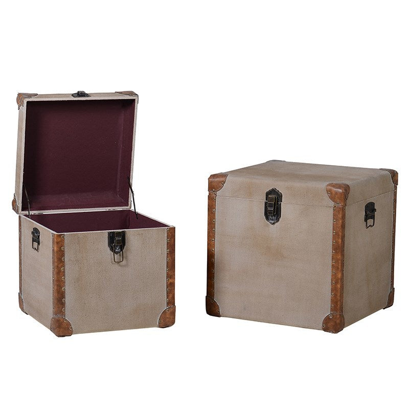 Set of 2 linen trunks