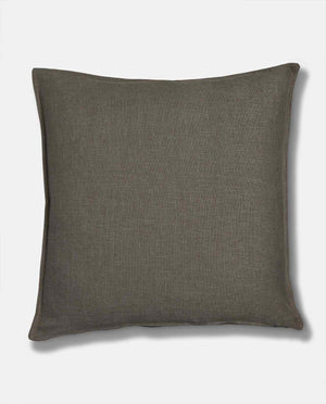 Large grey linen scatter cushion