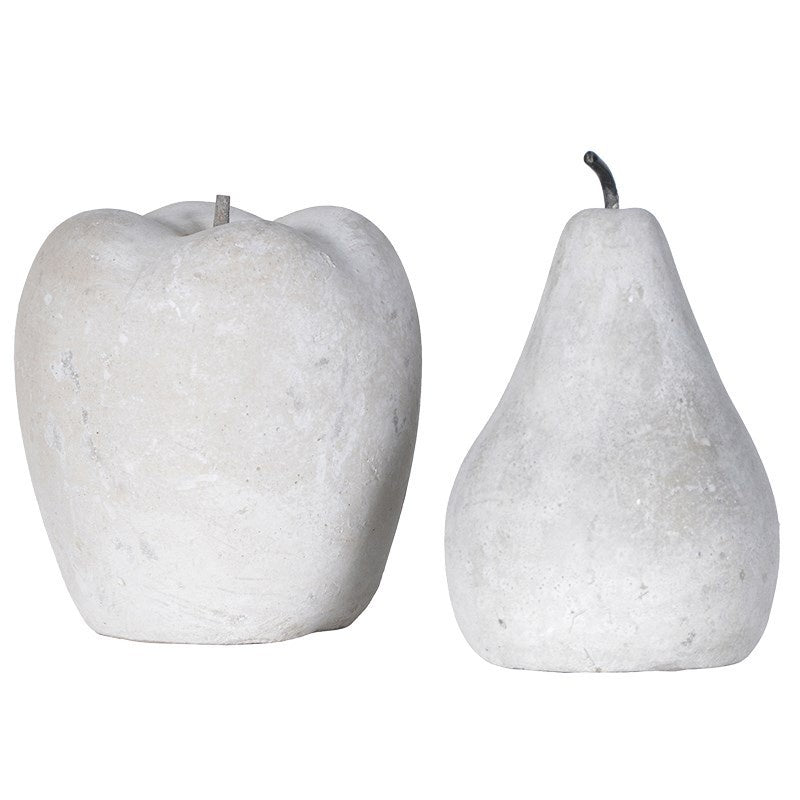 cement apple and pear set