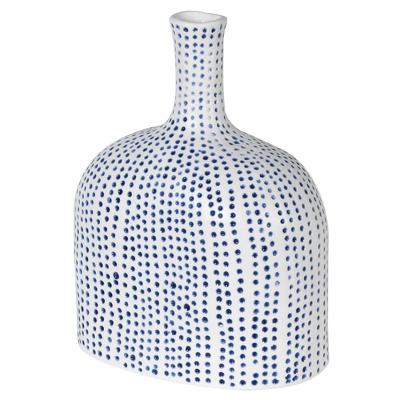 Small Spotty Blue Vase