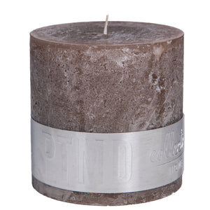 Rustic ambient brown block candle
