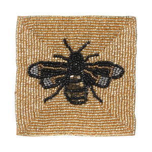 Beaded Bee Coasters