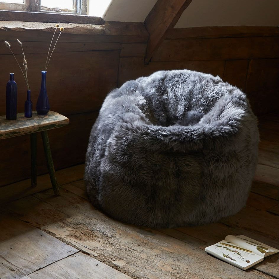 Large Sheepskin Beanbag Luxe