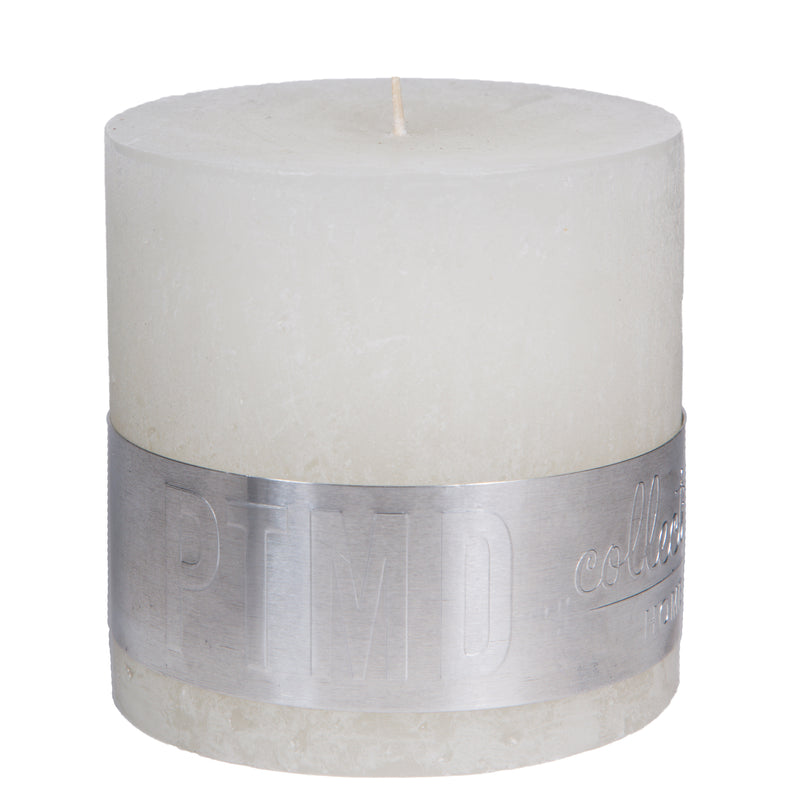 Rustic hot white block candle