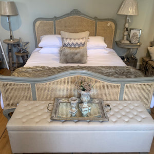 Grey french rattan 6ft bed