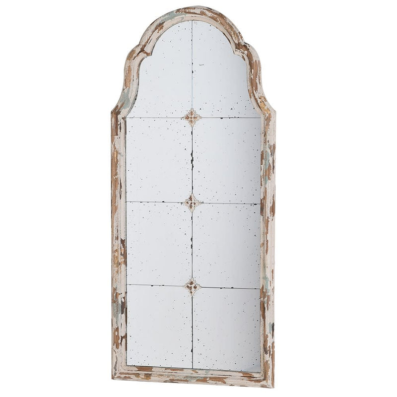 Cream Distressed Aged Mirror