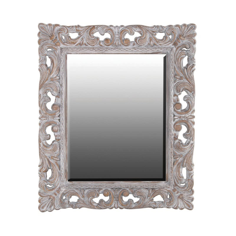 Ornate washed mirror