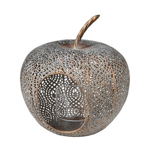 Gold metal apple lantern